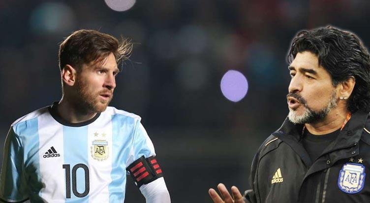 Image result for Maradona and Messi